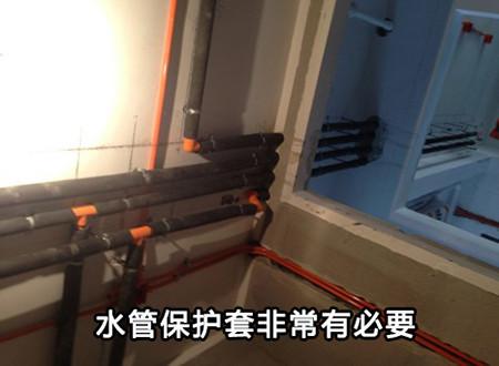 水管保护套非常有必要,以防后期结露。