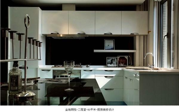 厨房设计成敞开式厨房,从视觉上丰富了空间,使宽间更加宽敞,而且章显了空间的层次感