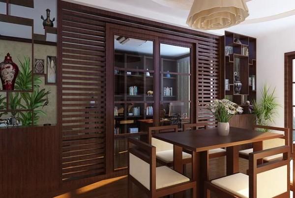 餐边柜中式味十足,餐椅则采用带有现代感的,满足业主的需求。