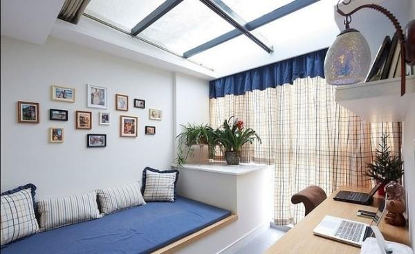 书房采用玻璃天窗