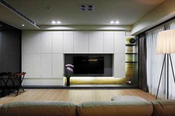 格式化的电视背景墙 增加空间的灵动性 与整体家装风格协调