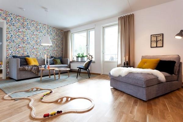 白色的墙壁与彩色的图案,为整个空间带来欢快雀跃的元素