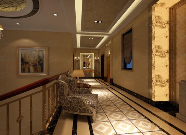 设计理念:木制品的手扶楼梯,中式家具点缀的整体设计装饰风格。外卫的设计很难完全中式化,设计师在材质上融合了中式元素,墙地面的设计选用仿古砖,做旧的感觉很质朴。