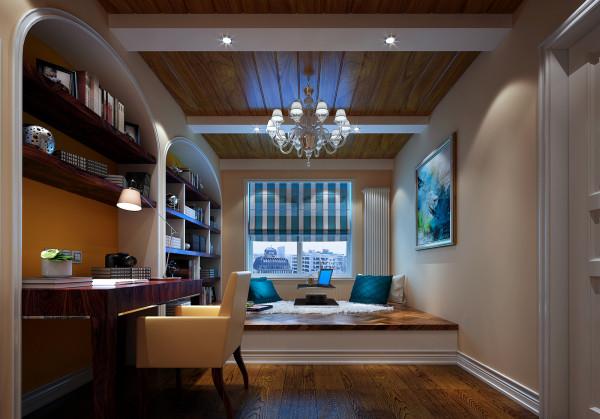 卧室地板选用实木地板,简约而不失高雅。壁纸选用米黄色,于整体格调相呼应