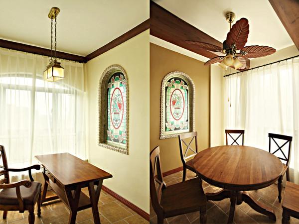 混搭 三居 小资 餐厅图片来自以勒设计在细雨之夏的分享
