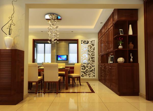 客厅做雕花式设计,既有一定的光线的缓冲,有不影响客厅的采光