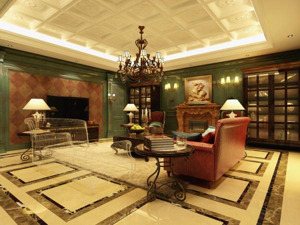 复古的美式餐厅,墨绿色的家具与墙面,让整个空间自然而又自由舒畅