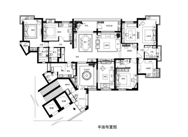 北京顺义装修-富力湾·半岛别墅-法式风格装修案例