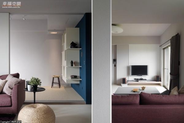 设计师为喜爱现代日系的女屋主,打造一处纯粹悠然的空间,让每个场域都能勾勒生活点滴。