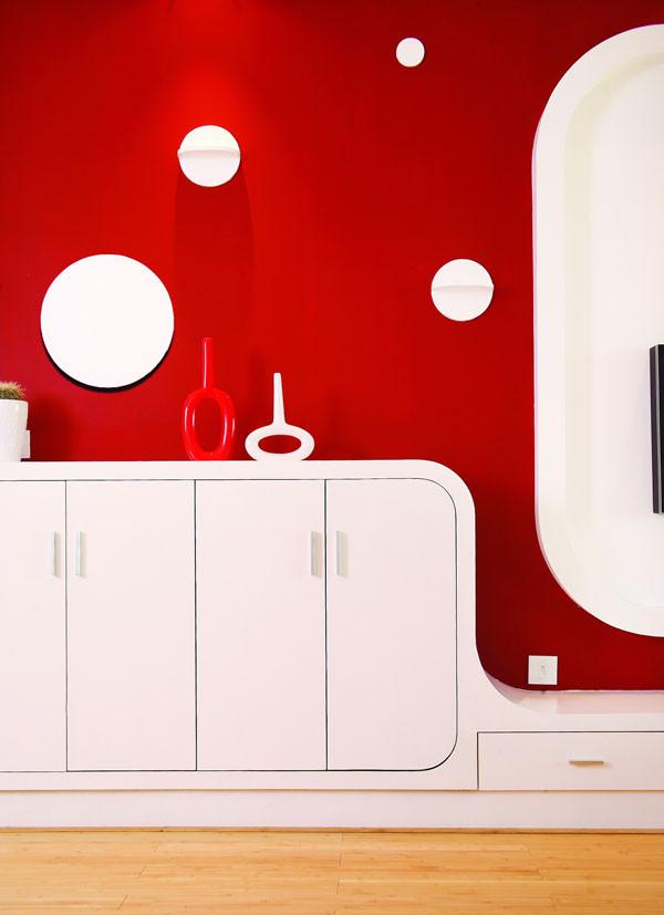 城建 世华泊郡 120平米  80后小夫妻现代简约型的 婚房设计案例——客厅