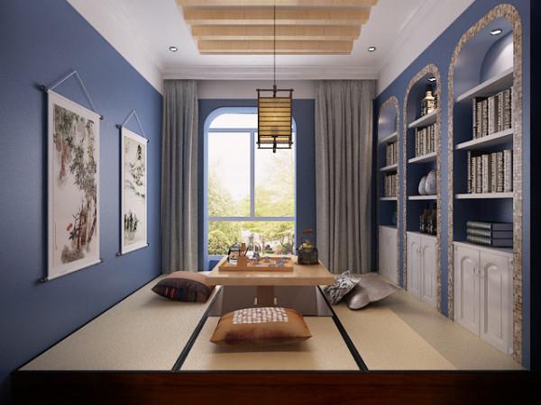 从整体到局部,精雕细琢,镶花刻金,都给人一种奢华的家居印象。电视背景墙线条的点、线、面的结合,及其窝嵌的艺术手法,使美式风格中唯美、律动的细节得以展现。弧形落地阳台,丰富了客厅的空间和功能。