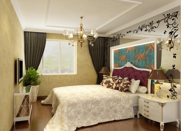 北京通州装修公司-京贸国际城110平米-简欧风格卧室效果图