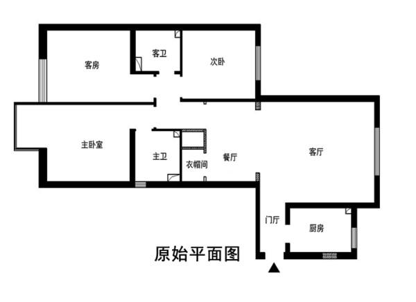北京通州装修公司-京贸国际城110平米-简欧风格效果图