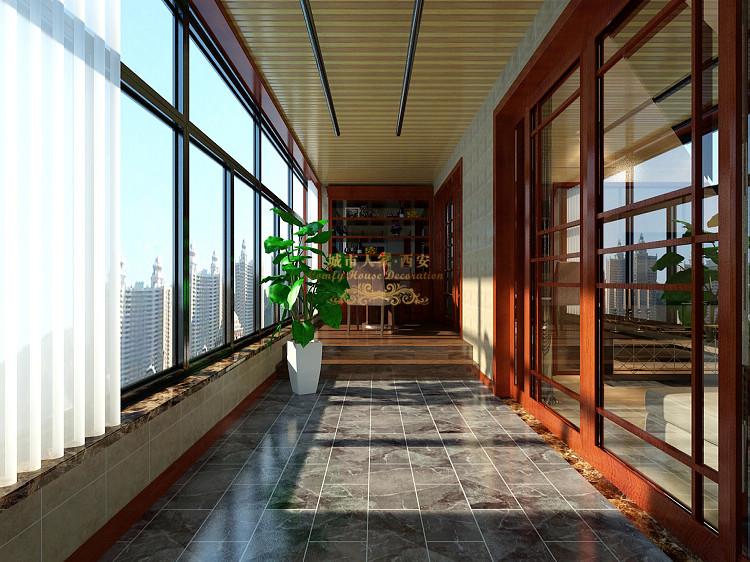 中式装修 鸿基紫韵 城市人家 小资 阳台图片来自西安城市人家装饰王凯