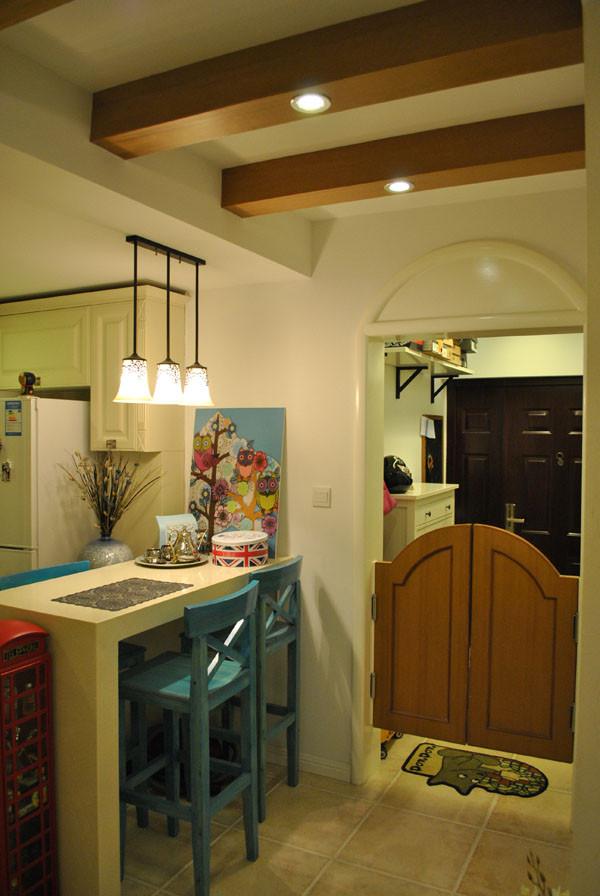 朝阳金蝉南里小区,52平米一居地中海风格设计案例——入户门