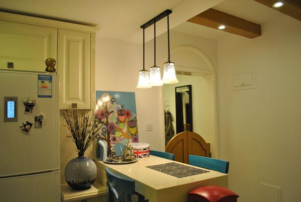 朝阳金蝉南里小区,52平米一居地中海风格设计案例——巴台