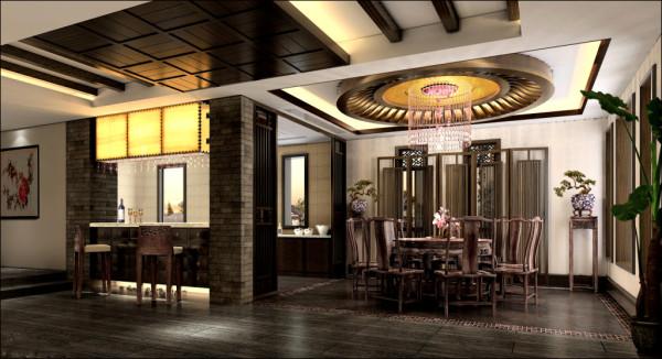厨房和餐厅,形分神连,功能区的划分既完整又主次分明。
