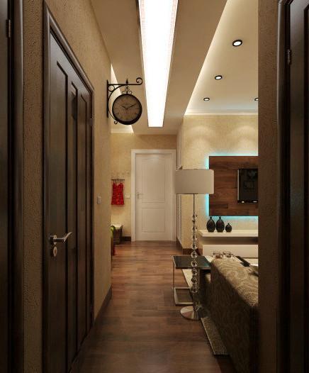 从客厅看门厅,简洁划一。好喜欢啊