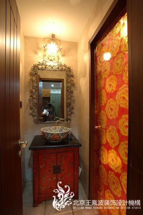 洗手盆有种中式风格的意味。