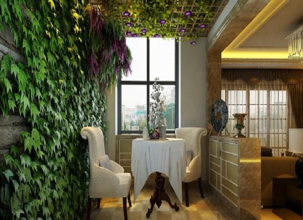 设计理念:在入户门与客厅之间形成过渡,将客厅与外界进行一定的阻隔,使客厅不与外界直接接触,增加了家庭的私密性,同时丰富了室内的空间格局,营造出家庭温馨浪漫的氛围.