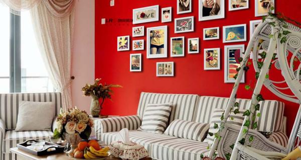 客厅装饰-沙发与背景墙搭配