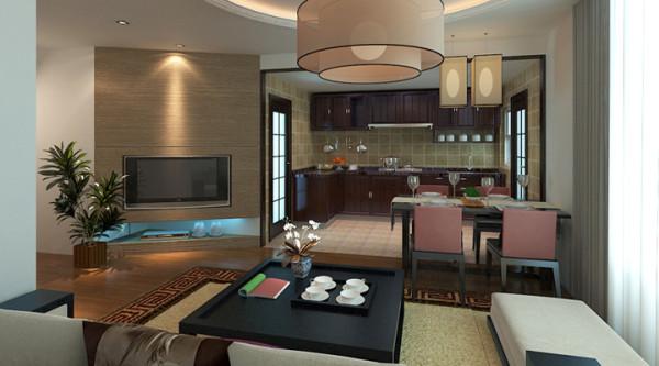 小厅与厨房餐桌比邻,相当于一个家庭厅,开放式的厨房愉快的环境下就餐。在就餐之余一家人也可坐在家庭厅一起看电视做些茶余饭后的活动。