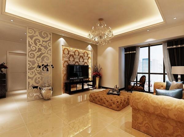 设计理念:白色混油雕花、无纺贴布、墙纸、亚光乳胶漆等几种材质的碰撞,形成了材质上的鲜明对比。