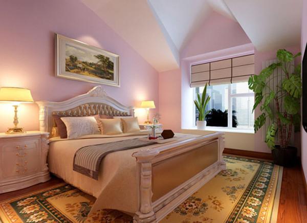设计理念:卧室的色调分为白色、粉色。明快温馨的颜色,顶面的白色使色彩看起来明亮、大方。高雅而和谐。老虎口的造型加之改造看起来更有设计感。