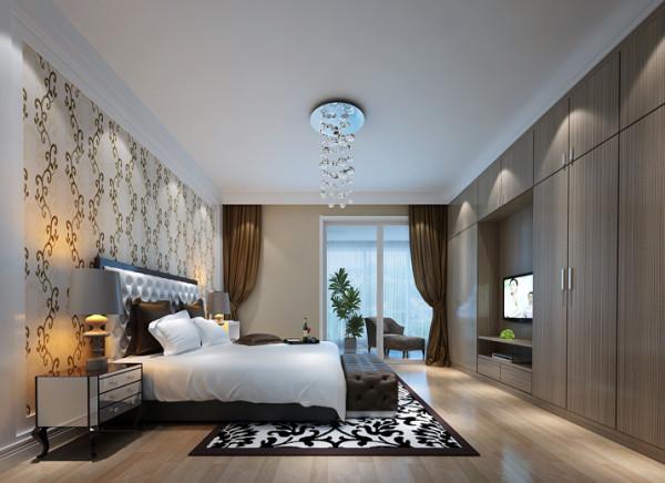 设计理念:卧室的设计以灰白搭配,及浅色的地板让空间显得宽敞、明亮。给人一种大气简洁的舒适感觉。