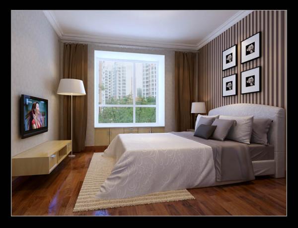 京贸国际城--C户型卧室效果图