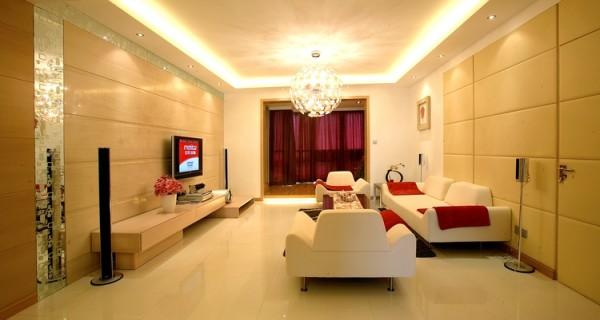 金地朗悦--140平米客厅
