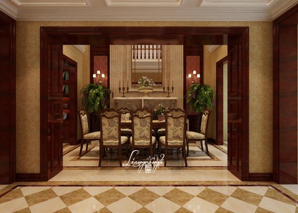 尚层别墅装饰 中海九号公馆  600平米,洛克克装修风格 餐厅