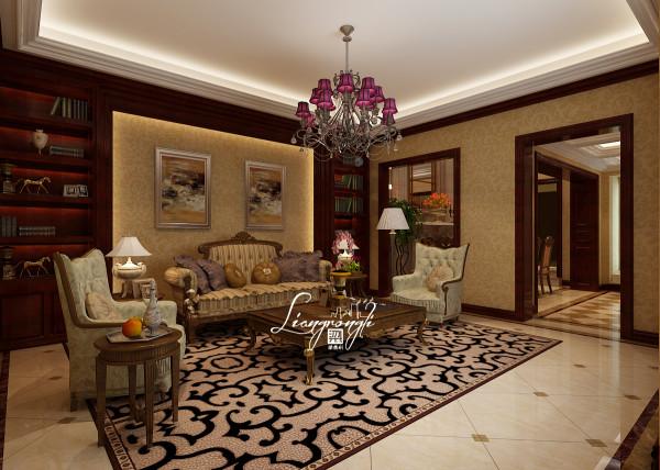 尚层别墅装饰 中海九号公馆  600平米,洛克克装修风格  客厅