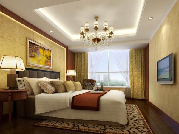 京贸国际城--L户型主卧室效果图