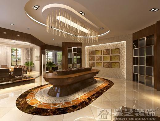 设计师运用天然石材、仿古砖、玻璃、艺术墙纸等等的装修材料