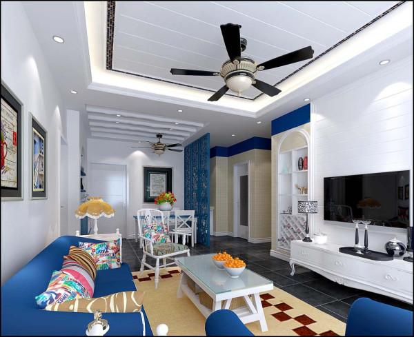 中建梅兰居客厅地中海风格装修效果图