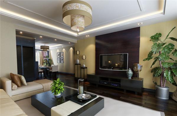新中式风格-电视背景墙设计
