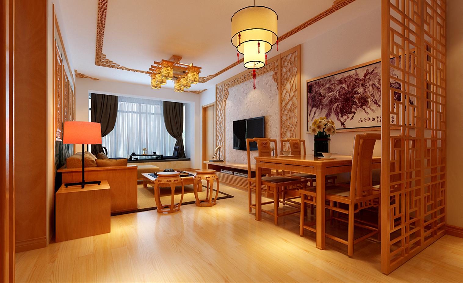简约 二居 中式风格 老房改造 实创装饰 装修公司 餐厅图片来自实创装