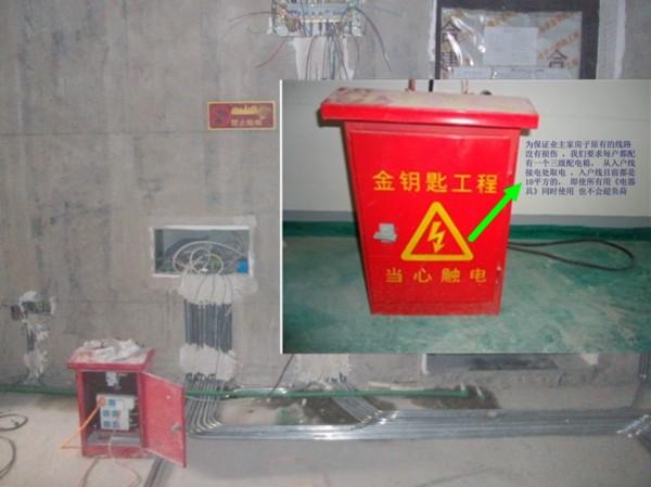 合建专用配电箱,保护原始线路