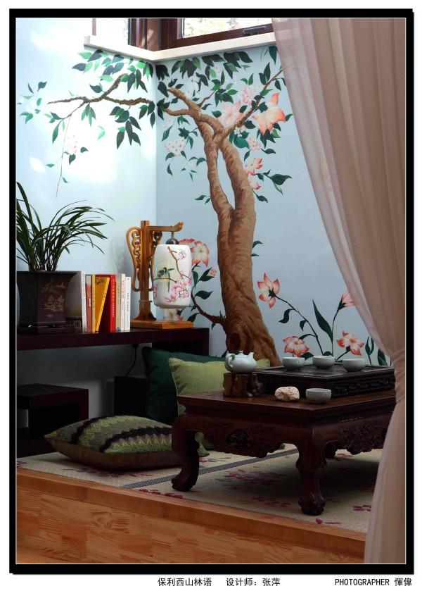 保利西山林语637平米 新中式混搭,茶室