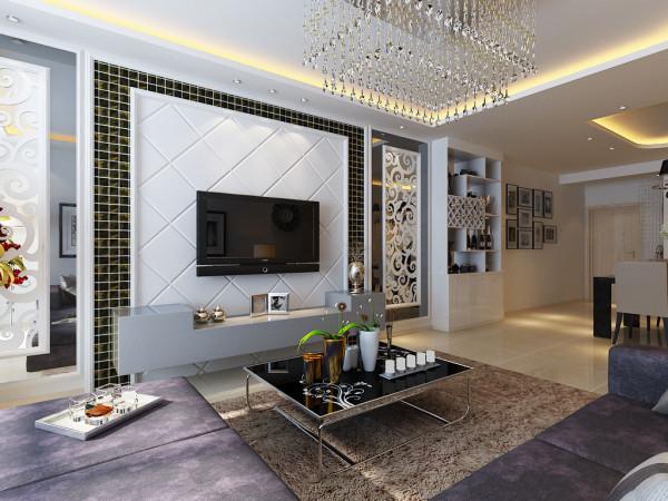 现代简约风格设计-电视背景墙效果