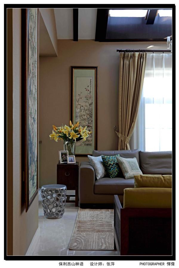 保利西山林语637平米 新中式混搭,客厅