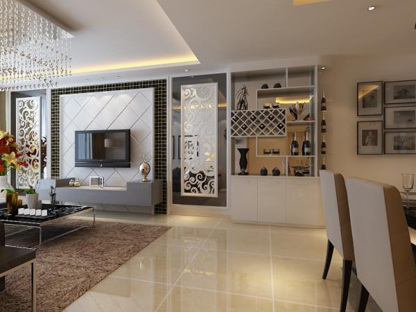 现代简约风格设计-客厅电视背景墙效果