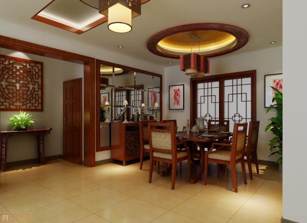 餐厅:中式让餐厅更为线条明理,典雅,整洁大方