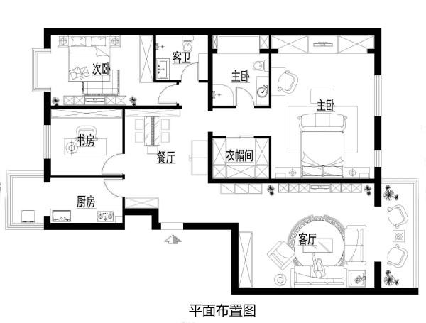 北京朝阳区装修-150平米欧式经典风格效果图-实创装饰