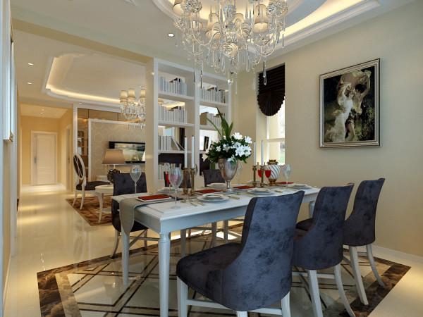 简欧风格设计-客厅餐厅整体设计效果