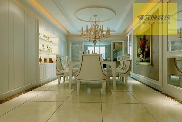 半开放式厨房的的设计,让整个空间通透明亮。