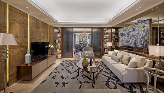 电视背景墙跟沙发背景墙处理的很得当,拉伸了空间感