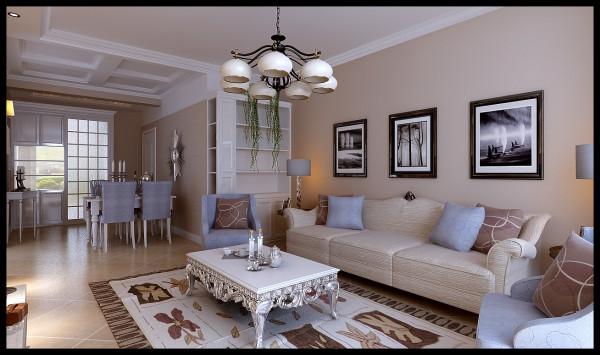 现代风格-沙发背景墙效果