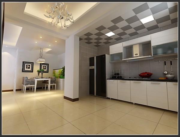 现代简约风格-敞开式厨房设计效果